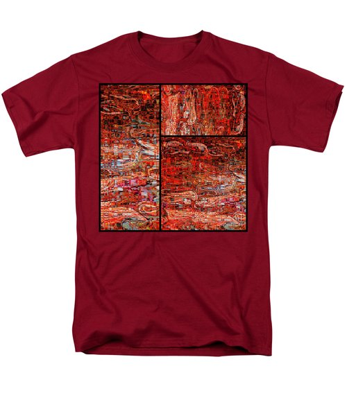 Red Splashes Swishes and Swirls - Abstract Art T-Shirt by Carol Groenen
