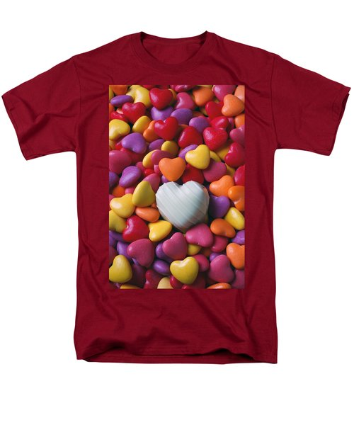 White heart candy T-Shirt by Garry Gay