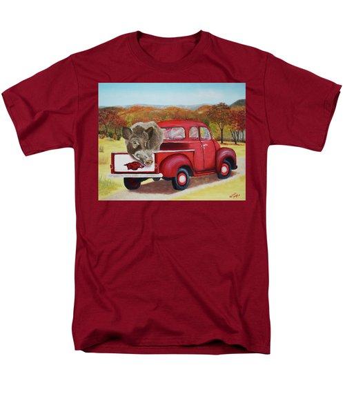 Ridin' With Razorbacks 2 Men's T-Shirt  (Regular Fit) by Belinda Nagy