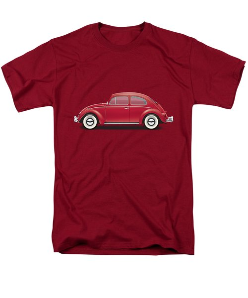 1964 Volkswagen 1200 Deluxe Sedan - Ruby Red Men's T-Shirt  (Regular Fit) by Ed Jackson