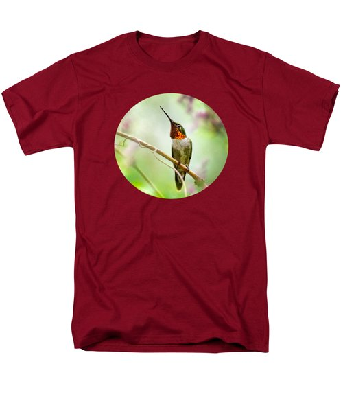 Hummingbird Looking For Love Men's T-Shirt  (Regular Fit) by Christina Rollo