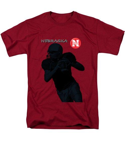Nebraska Football Men's T-Shirt  (Regular Fit) by David Dehner