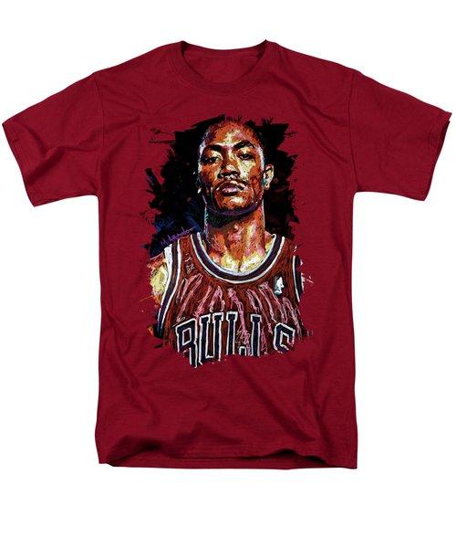 Derrick Rose-2 Men's T-Shirt  (Regular Fit) by Maria Arango