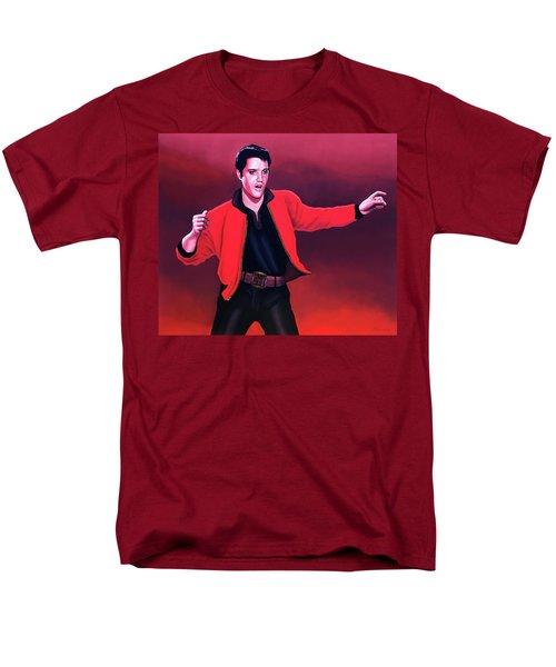 Elvis Presley 4 Painting Men's T-Shirt  (Regular Fit) by Paul Meijering