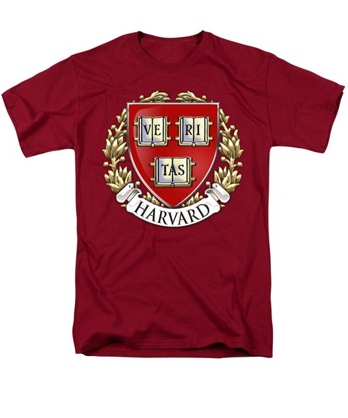 Harvard University Seal - Coat Of Arms Over Colours Men's T-Shirt  (Regular Fit) by Serge Averbukh