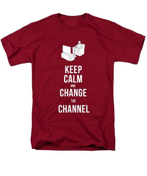 Keep Calm And Change The Channel Tee Men's T-Shirt  (Regular Fit) by Edward Fielding