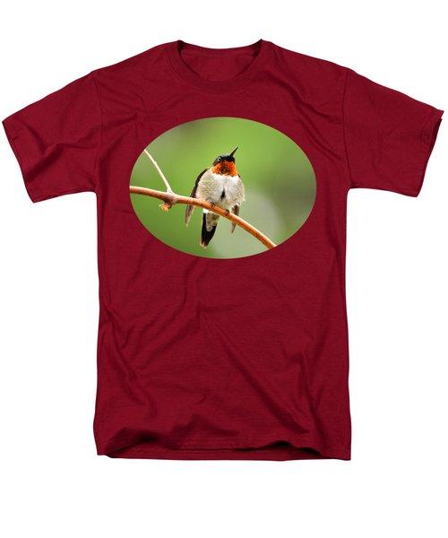 Male Ruby-throated Hummingbird Men's T-Shirt  (Regular Fit) by Christina Rollo