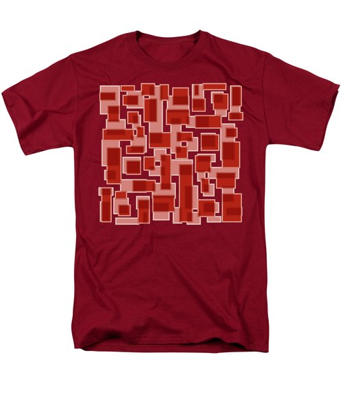 Red Abstract Patches T-Shirt by Frank Tschakert