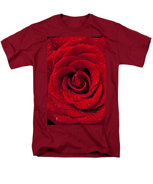 Red Rose With Dew T-Shirt by Garry Gay