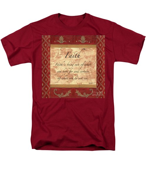 Red Traditional Faith T-Shirt by Debbie DeWitt