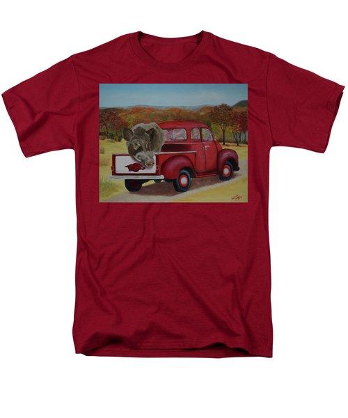 Ridin' With Razorbacks Men's T-Shirt  (Regular Fit) by Belinda Nagy