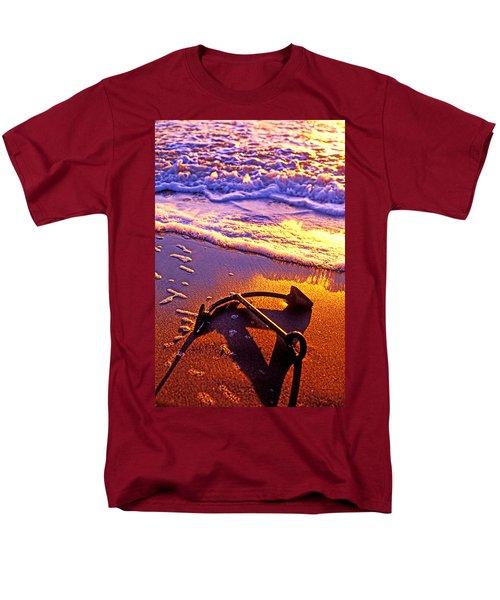 Ships anchor on beach T-Shirt by Garry Gay