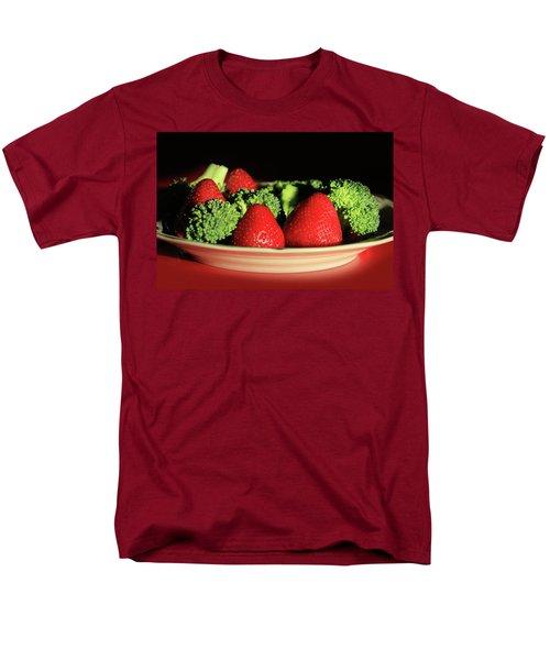 Strawberries And Broccoli Men's T-Shirt  (Regular Fit) by Lori Deiter