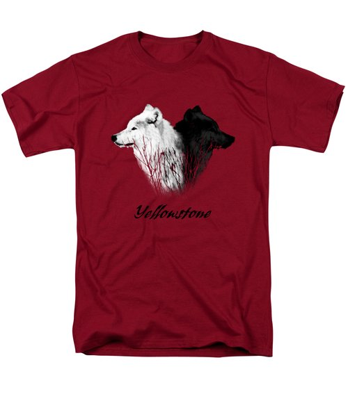 Yellowstone Wolves T-shirt Men's T-Shirt  (Regular Fit) by Max Waugh