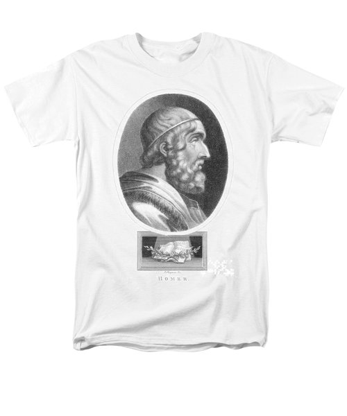 Homer, Ancient Greek Epic Poet T-Shirt by Photo Researchers