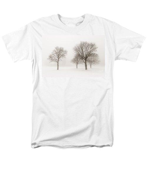 Winter trees in fog T-Shirt by Elena Elisseeva