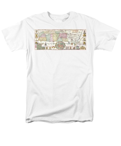 1632 Tirinus Map of the Holy Land T-Shirt by Paul Fearn