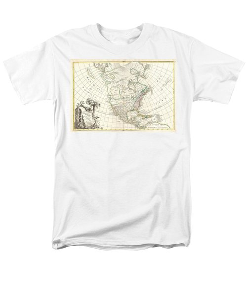 1762 Janvier Map of North America  T-Shirt by Paul Fearn