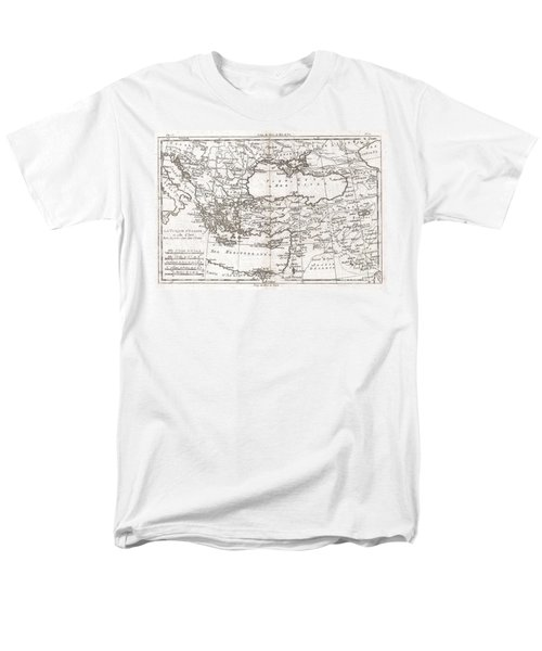 1780 Raynal and Bonne Map of Turkey in Europe and Asia T-Shirt by Paul Fearn