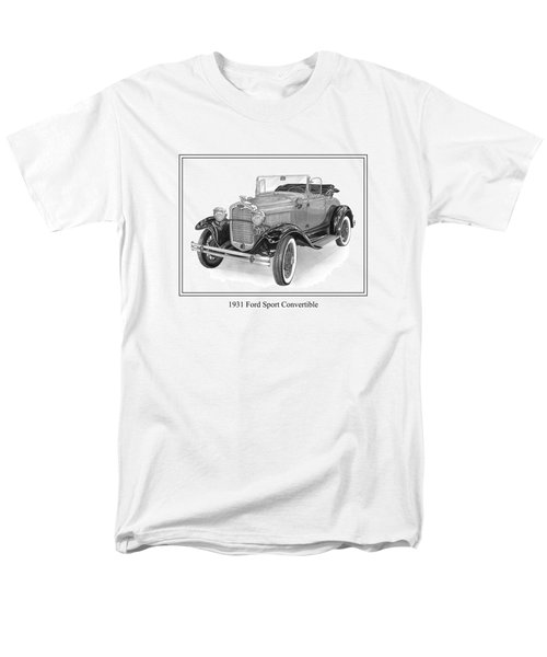 1931 Ford Convertible T-Shirt by Jack Pumphrey