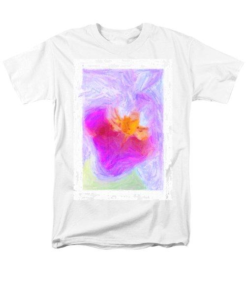 Abstract Orchid Pastel T-Shirt by Antony McAulay