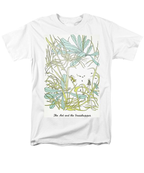 Aesop: Ant & Grasshopper Men's T-Shirt  (Regular Fit) by Granger