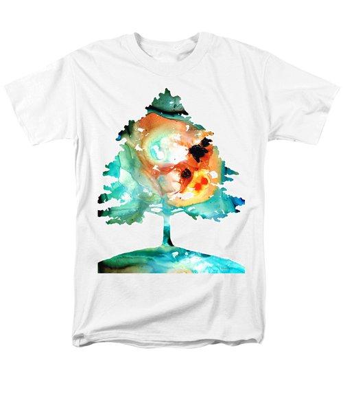 All Seasons Tree 1 - Colorful Landscape Print T-Shirt by Sharon Cummings
