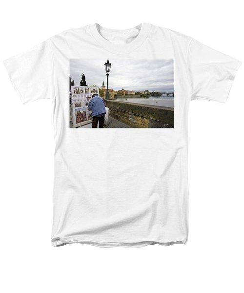 Artist on the Charles Bridge - Prague T-Shirt by Madeline Ellis