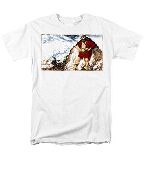 Atlas And Perseus, Greek Mythology Men's T-Shirt  (Regular Fit) by Photo Researchers
