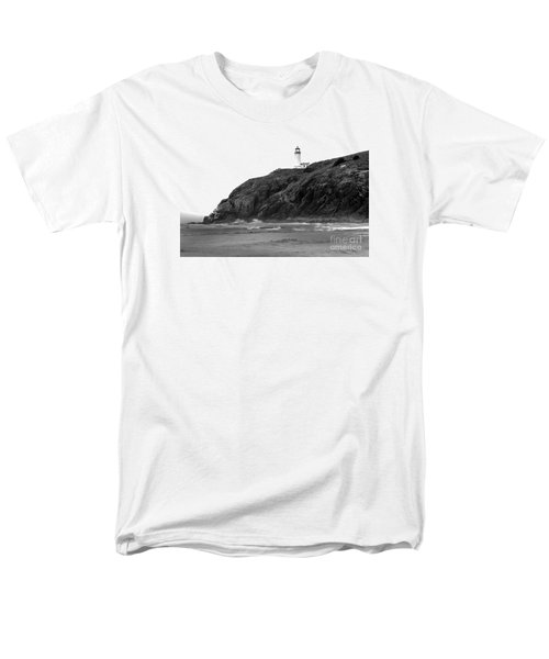 Beach View of North Head Lighthouse T-Shirt by Robert Bales