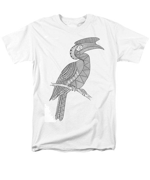 Bird Hornbill Men's T-Shirt  (Regular Fit) by Neeti Goswami