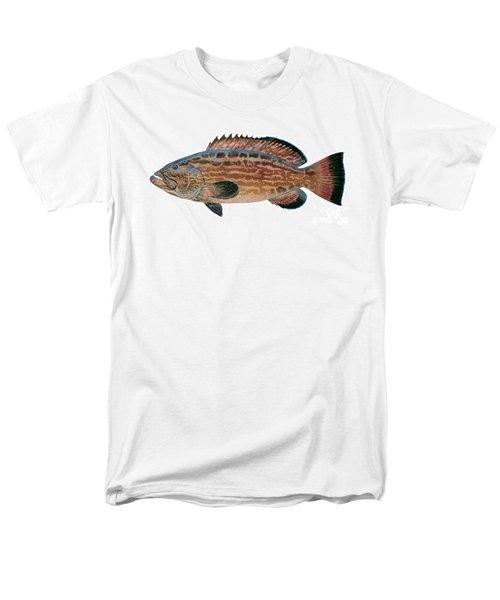 Black Grouper Men's T-Shirt  (Regular Fit) by Carey Chen