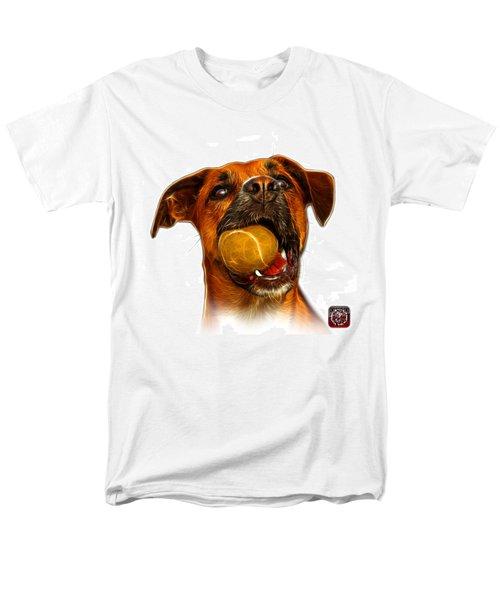 Boxer Mix Dog Art - 8173 - WB T-Shirt by James Ahn