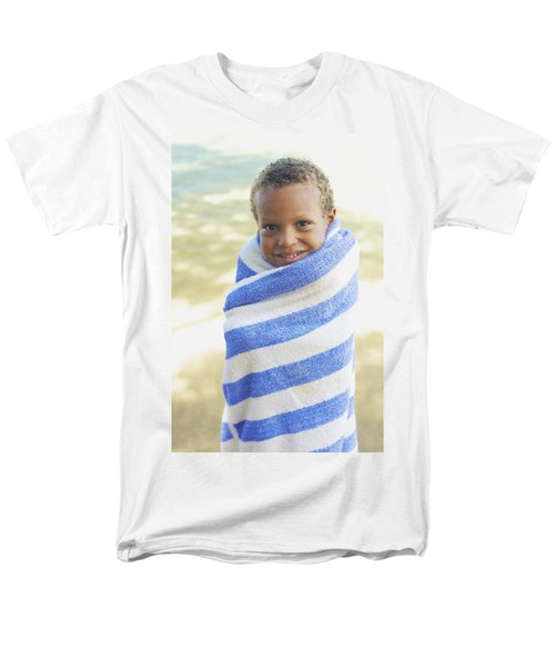 Boy in Towel T-Shirt by Kicka Witte