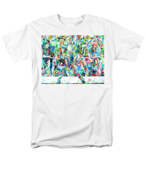 BRUCE SPRINGSTEEN and the E STREET BAND - watercolor portrait T-Shirt by Fabrizio Cassetta