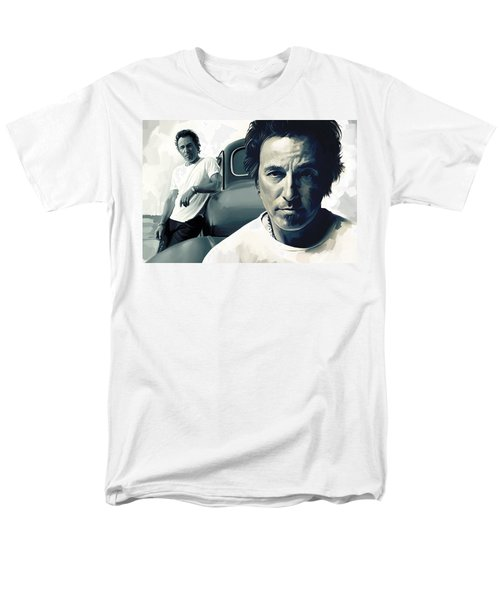 Bruce Springsteen The Boss Artwork 1 Men's T-Shirt  (Regular Fit) by Sheraz A