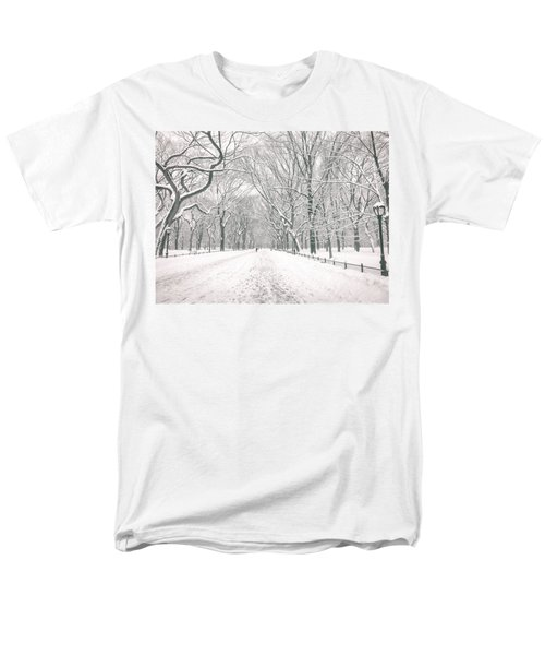 Central Park Winter - Poet's Walk in the Snow - New York City T-Shirt by Vivienne Gucwa