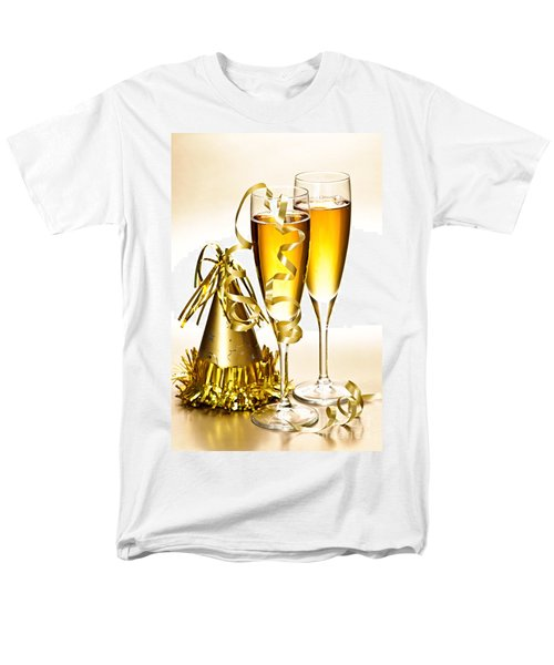 Champagne and New Years party decorations T-Shirt by Elena Elisseeva