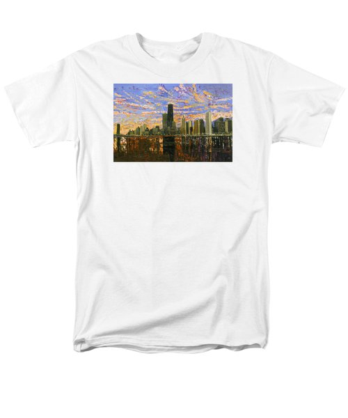Chicago Men's T-Shirt  (Regular Fit) by Mike Rabe
