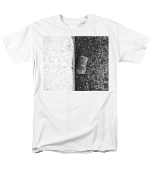 CHIMAY WINE CORK in BLACK AND WHITE T-Shirt by ROB HANS