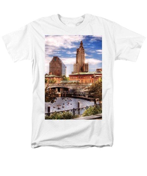 City - Providence RI - The Skyline T-Shirt by Mike Savad