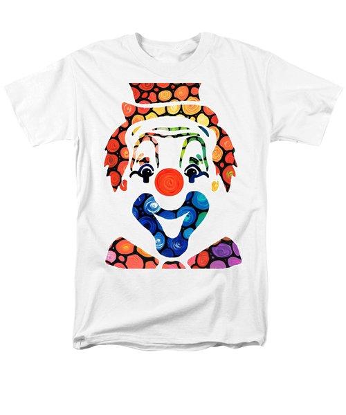Clownin Around - Funny Circus Clown Art T-Shirt by Sharon Cummings