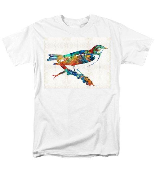 Colorful Bird Art - Sweet Song - By Sharon Cummings Men's T-Shirt  (Regular Fit) by Sharon Cummings