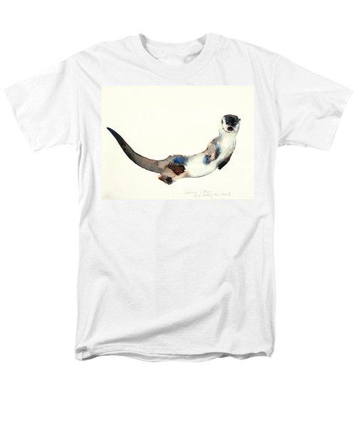 Curious Otter Men's T-Shirt  (Regular Fit) by Mark Adlington