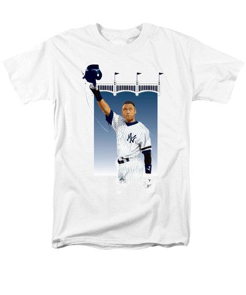 Derek Jeter 3000 Hits Men's T-Shirt  (Regular Fit) by Scott Weigner