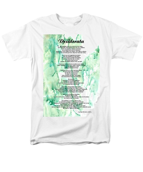 Desiderata - Words of Wisdom T-Shirt by Sharon Cummings