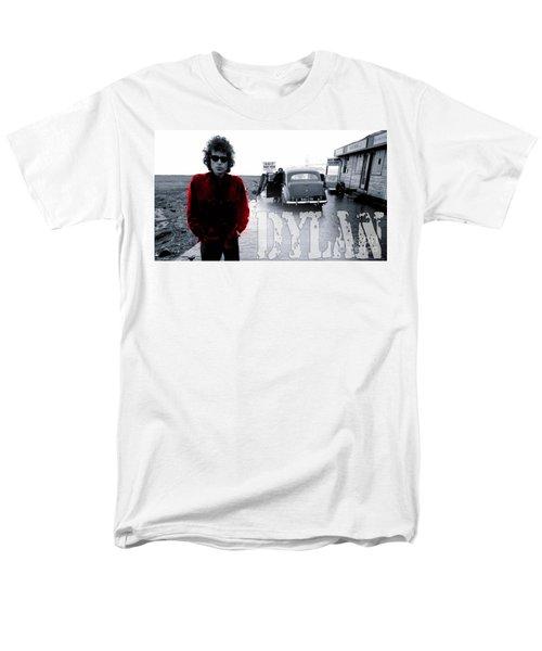 Bob Dylan Men's T-Shirt  (Regular Fit) by Marvin Blaine