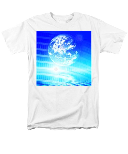 Earth technology background T-Shirt by Michal Bednarek