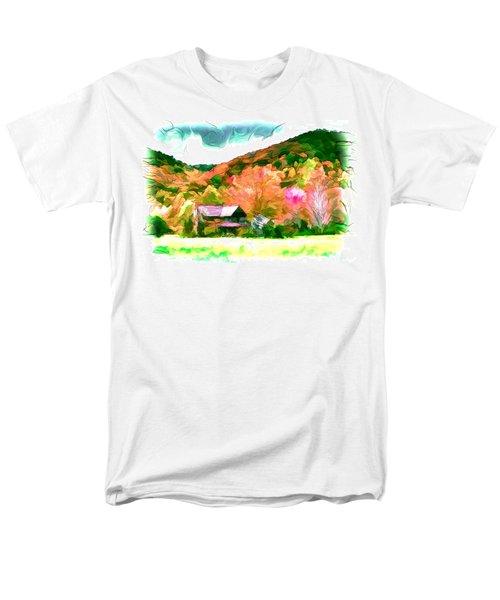 Falling Farm Blended Art Styles T-Shirt by John Haldane