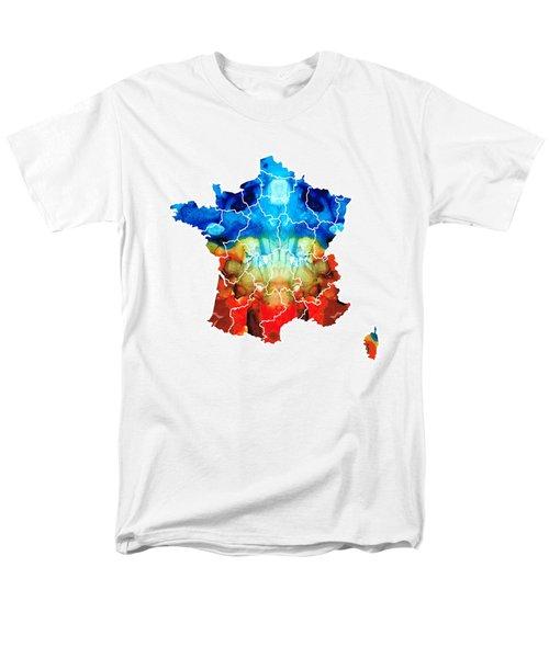 France - European Map By Sharon Cummings Men's T-Shirt  (Regular Fit) by Sharon Cummings